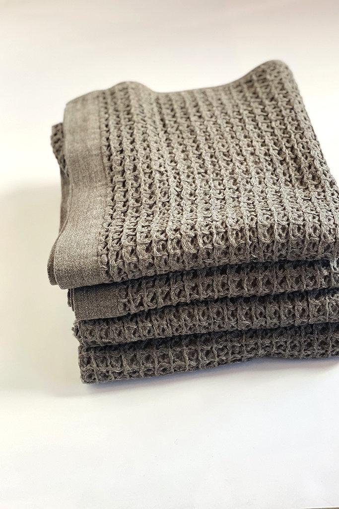 Morihata Lattice Compact Bath Towel Brown