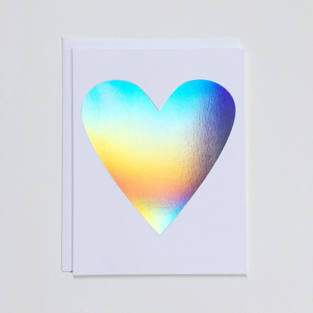 Banquet Hologram Heart Card