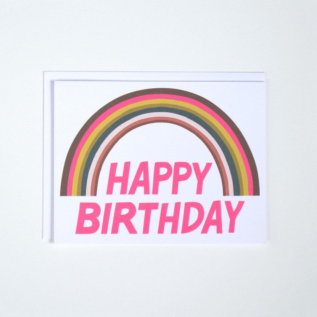 Banquet Happy Birthday Neon Rainbow Note Card
