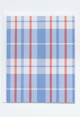Banquet Red and Blue Plaid Shopping Bag Note Card