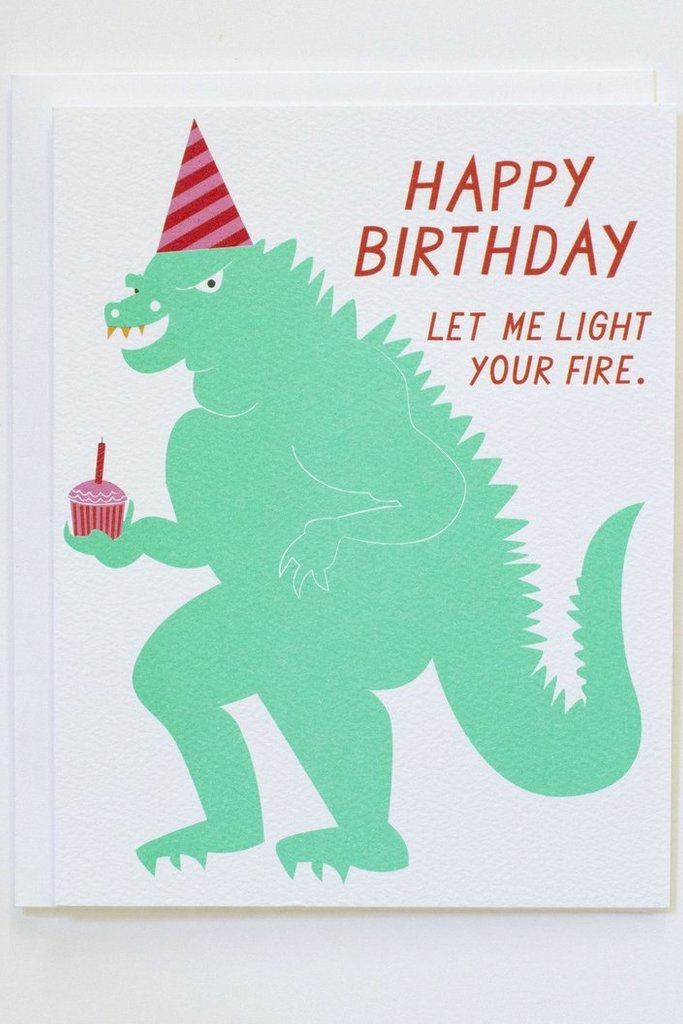 Banquet Happy Birthday - Let Me Light Your Fire Note Card