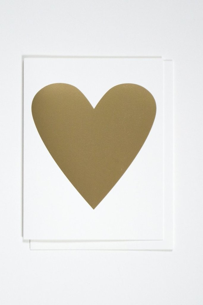 Banquet Heart of Gold Foil Greeting Card