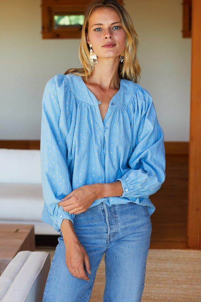 Emerson Fry Olympia Shirt in Powder Blue