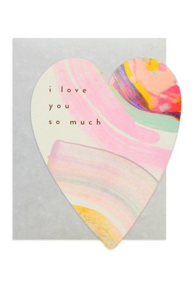 Moglea Rainbow Heart Love Card
