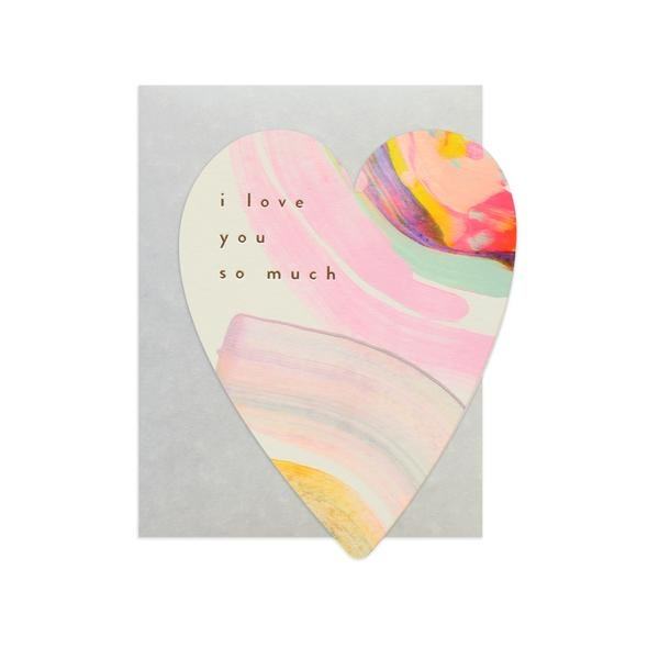 Moglea Rainbow Heart Love Card