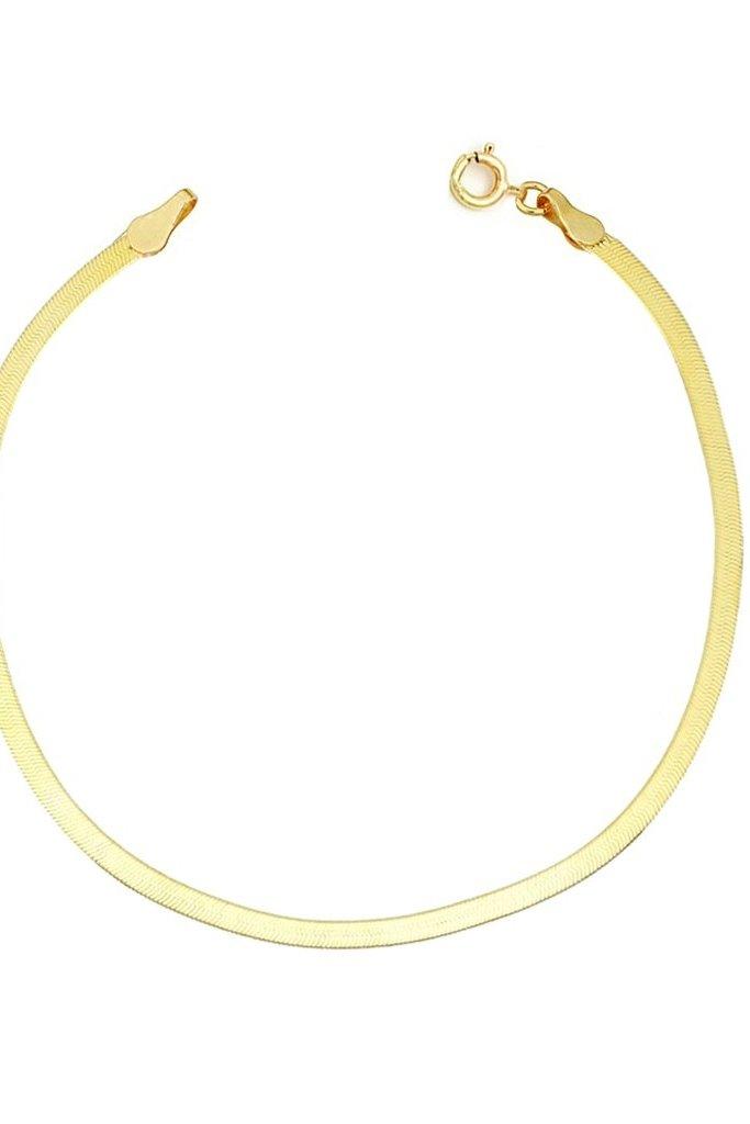 Leah Alexandra Wide Herringbone Bracelet