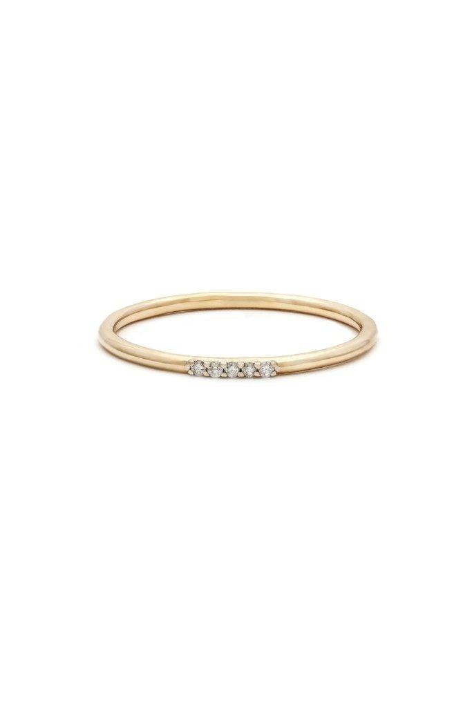 Leah Alexandra Cinque Ring 14kt Gold & Diamond