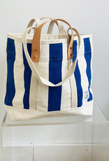 Fleabags Small East West Tote Blue Stripe