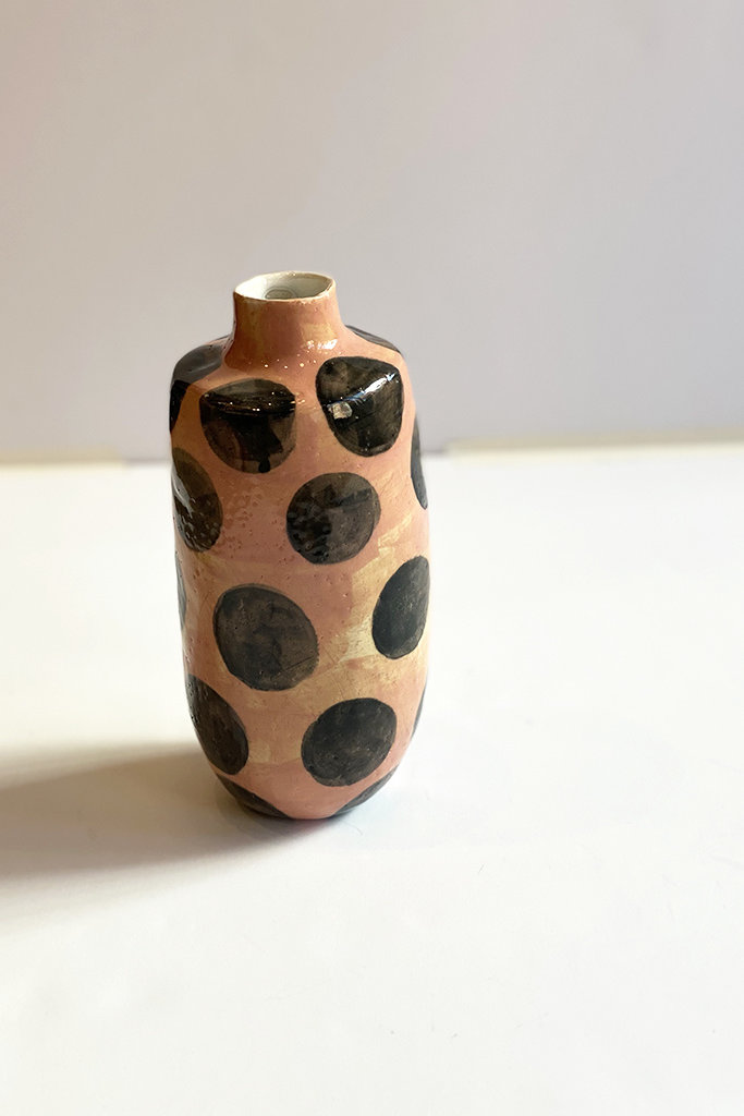 Alice Cheng Studio Tall Polka Dot Vase