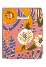 Egg Press Floral Birthday Card