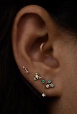 Dimple Bar Earring- 10KT Gold