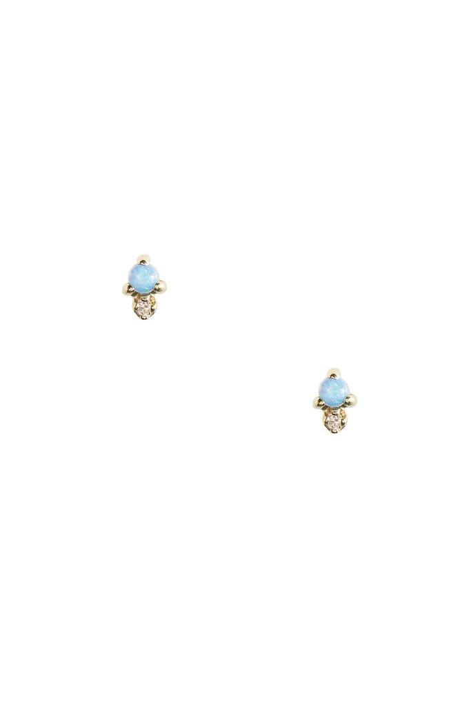 Opal Dot Earring Gold