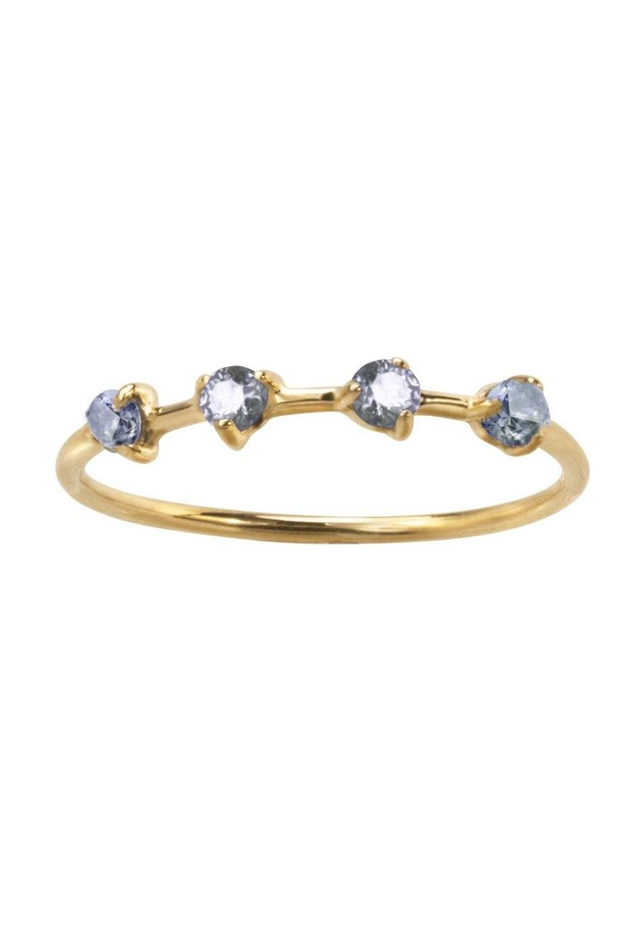 Four step Ring, 14KT size 7.5