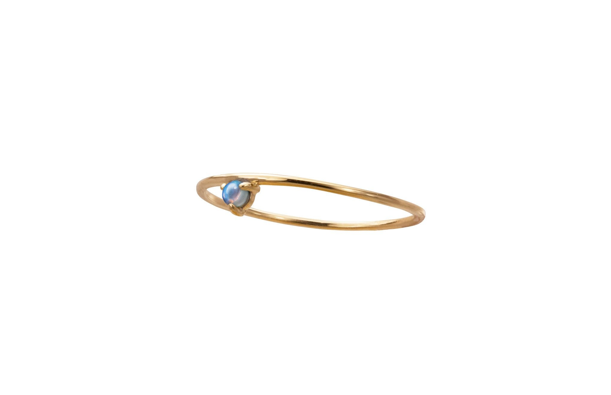 one step ring, 14kt , size 7.5