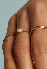 irregular Pearl Ring, 14kt , size 6.5