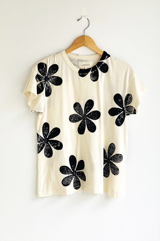 The Great The Daisy Boxy Cotton Crew Tee