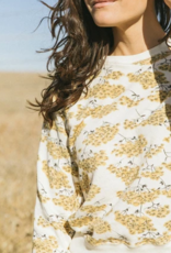 The Great The Shrunken Sweatshirt in Chamomile Floral
