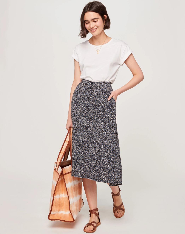 Sessun Daniella Floral Button Skirt - Size 40