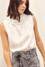 Sessun Albertine Collared Sleeveless Shirt - Size M
