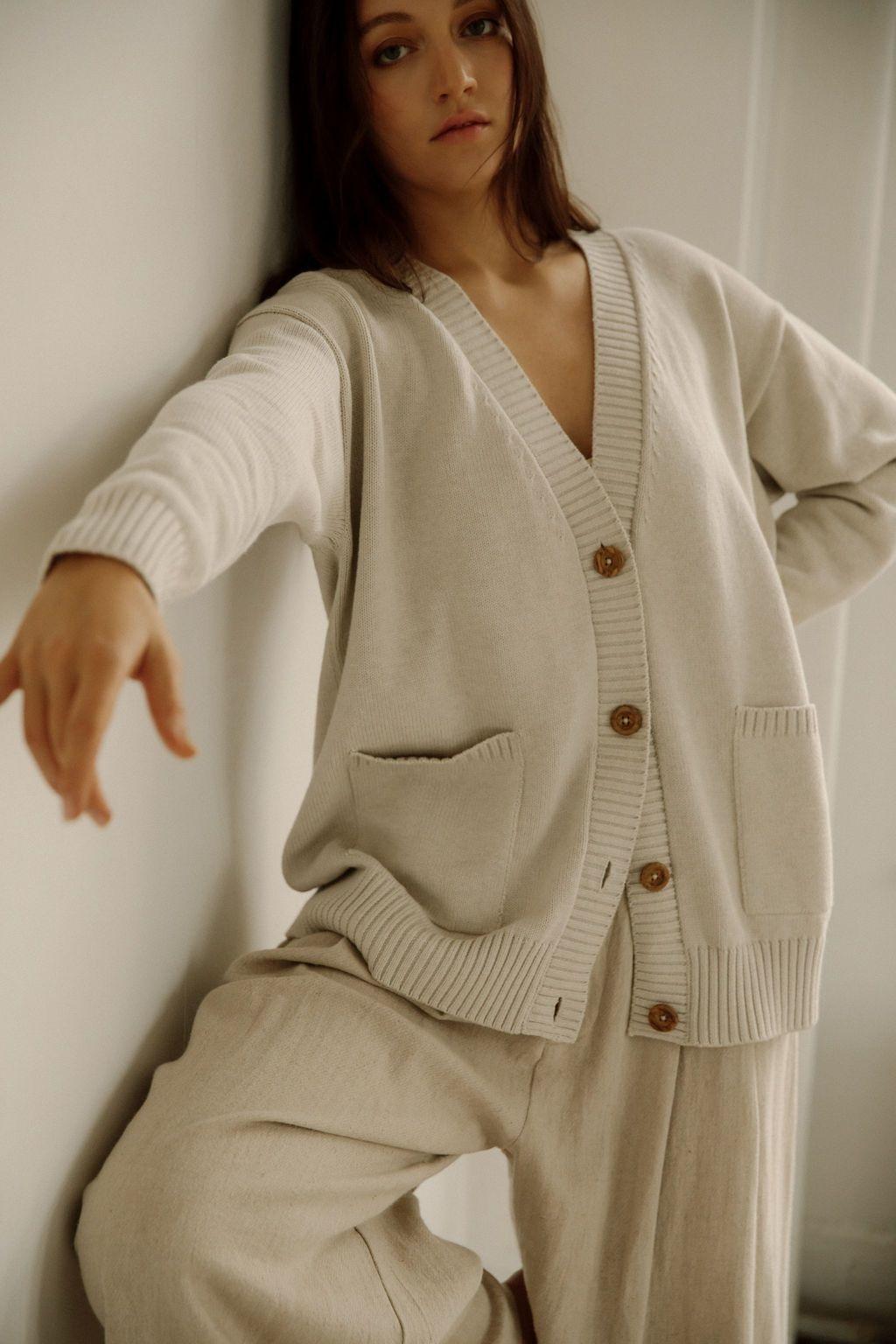 Bare Knitwear Dusk Cotton Cardigan