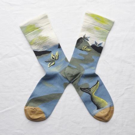 Bonne Maison Paysage Cotton Socks
