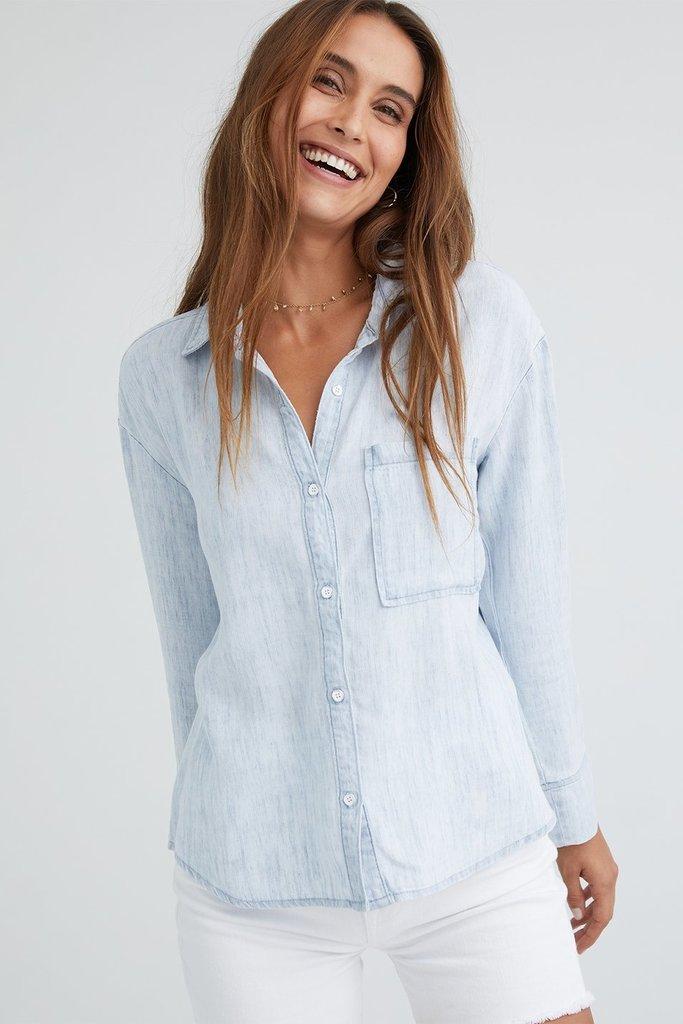 Bella Dahl Pleat Back Pocket Shirt