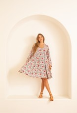 Natalie Martin Fiore Rayon Short Dress in Vintage Flower Print