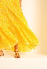 Natalie Martin Melanie Silk Dress in Bamboo Sun - Size S