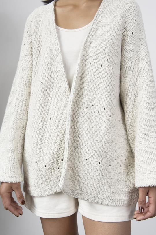 Wol Hide Loose Shawl Cotton Cardigan - Two Colors