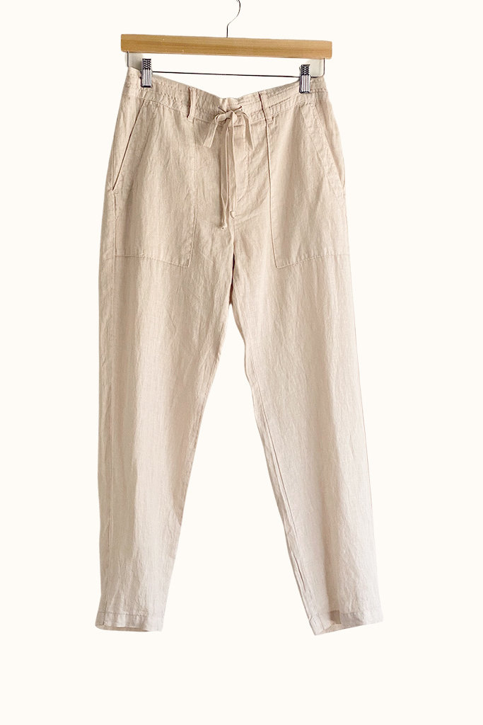 Bella Dahl Easy Flap Pocket Linen Trouser