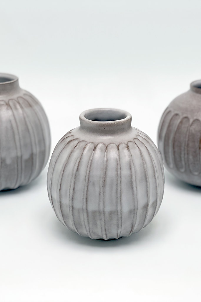 Alice Cheng Studio Carved Pod Vases
