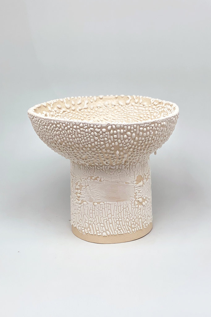 Alice Cheng Studio Footed Bump Pedestal Bowl