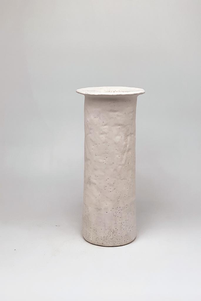 Alice Cheng Studio Tall Column Vase With Lip