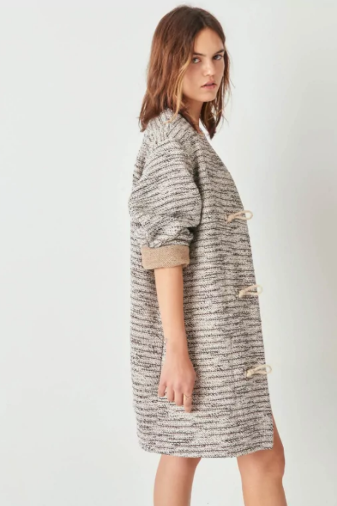 Sessun Textured Cotton Spring Coat