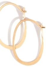 Melissa Joy Manning 14k Gold Oval Hoop