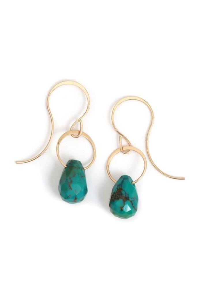 Melissa Joy Manning Limited Edition 14k Earring Turquoise
