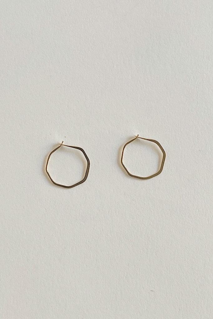 Melissa Joy Manning 14k Extra Small Octagon Hoop