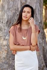 Marisa Mason Joshua Tree Necklace - Brass