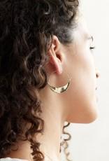 Marisa Mason Summerland Brass Hoops
