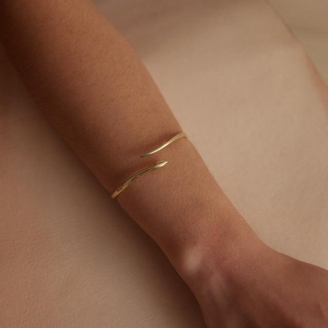 Marisa Mason Serpent Brass Cuff