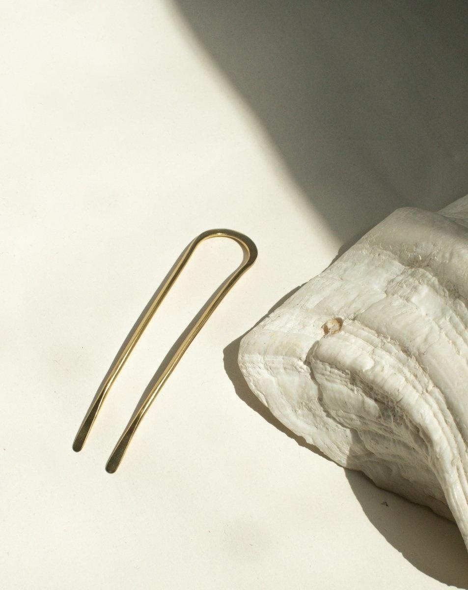 Satomi Studio Sequoia Brass Bun Pin Medium