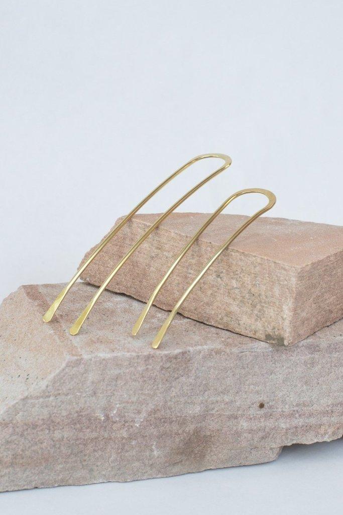 Satomi Studio Sequoia Brass Bun Pin Small