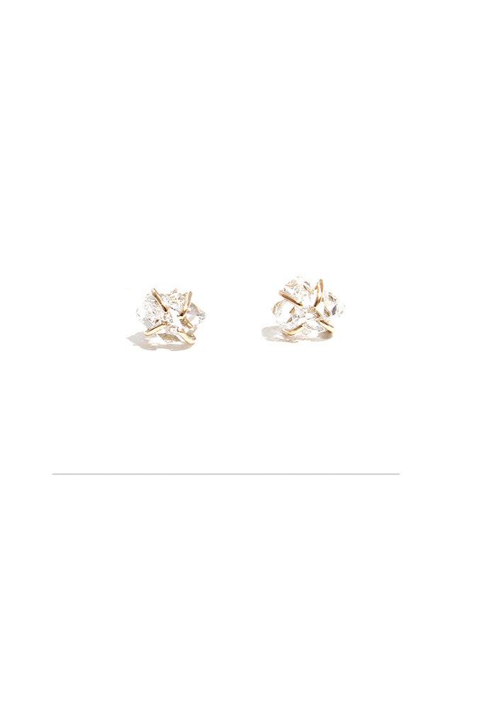 Melissa Joy Manning 14kt YG Herkimer Diamond Studs