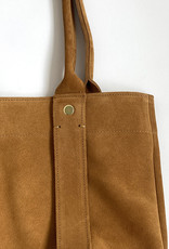 Clare V Petit Cousin Bag in Suede Camel