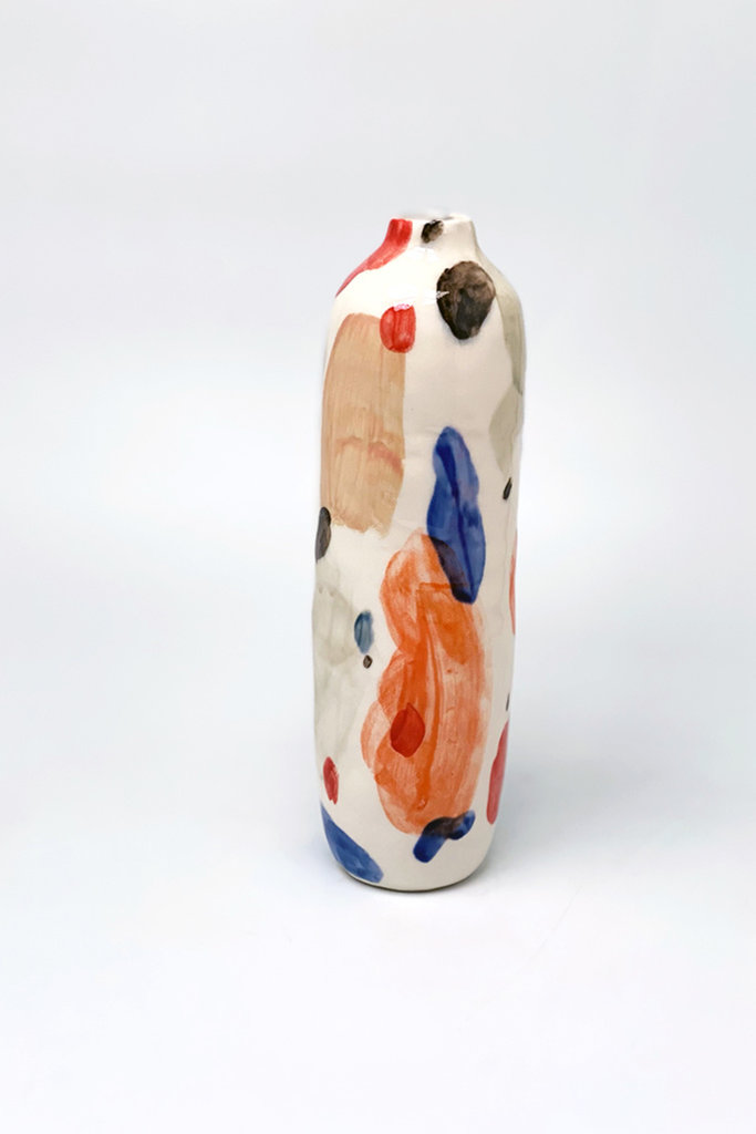 Alice Cheng Studio Porcelain Dream of Columns Vase
