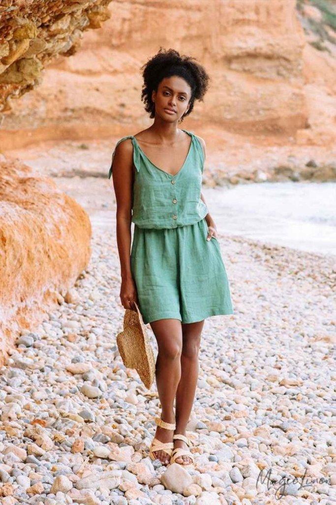 Magic Linen Mendocino Linen Jumpsuit - Two Colors