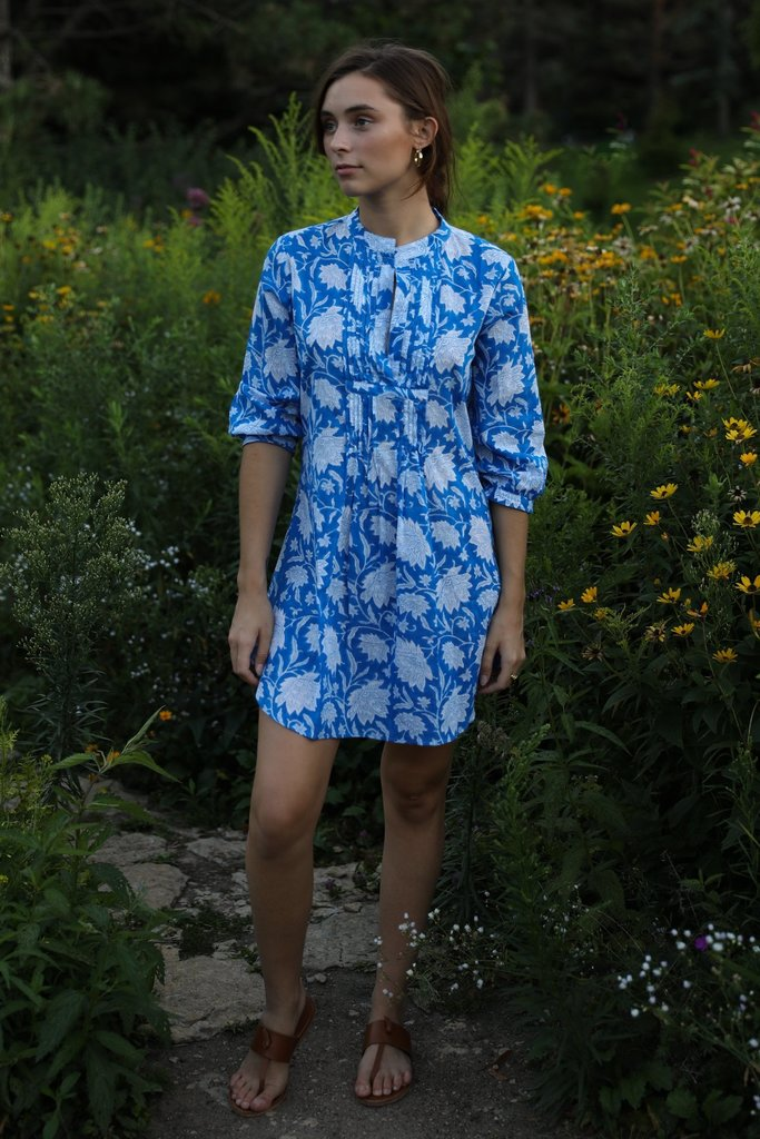 Mille Cotton Indio Tunic Blue Lotus