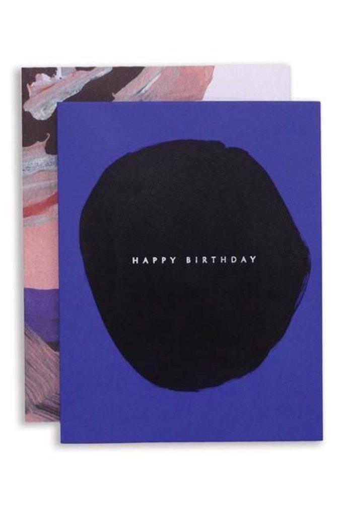 Moglea Birthday Blue Greeting Card