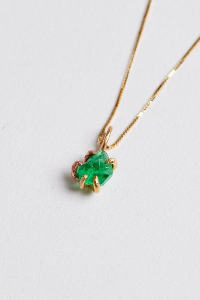 Variance Zambian Emerald Necklace