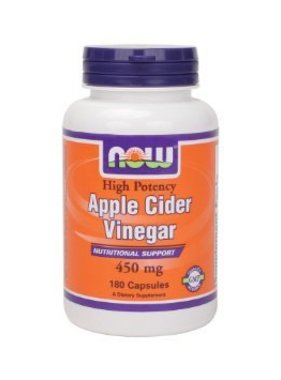 NOW Foods Apple Cider Vinegar, 450mg, 180 capsules